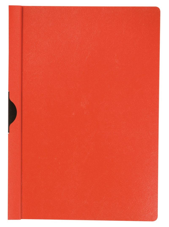 Skoroszyt Q-CONNECT z metalowym klipsem, PP, A4, 200/350mikr., czerwony, Skoroszyty pozostałe, Archiwizacja dokumentów