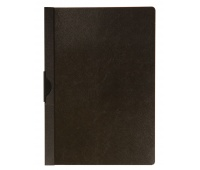 Clip Report File Q-CONNECT, metal clip, PP, A4, 200/350 micron, black