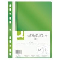 Skoroszyt Q-CONNECT, PP, A4, standard, 120/170mikr., wpinany, zielony