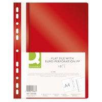 Skoroszyt Q-CONNECT, PP, A4, standard, 120/170mikr., wpinany, czerwony
