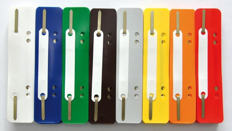 Wąsy skoroszytowe Q-CONNECT, PP, z metalową blaszką, 25szt., białe, Wąsy, Archiwizacja dokumentów