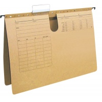 Suspension File Q-CONECT, cardboard, A4, 250gsm, light brown