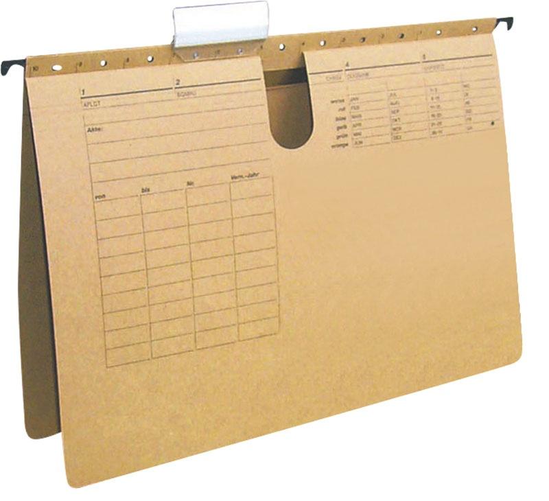Skoroszyt zawieszkowy karton A4 250gsm jasnobrązowy, Teczki zawieszkowe, Archiwizacja dokumentów