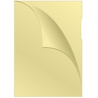 Obwoluta typu L PP A4 groszkowa 120mikr. 100szt. żółta, Koszulki i obwoluty, Archiwizacja dokumentów