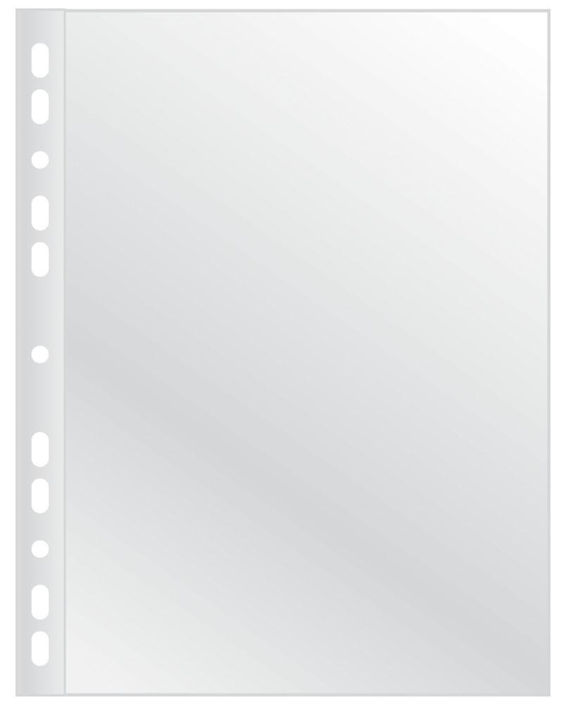 Koszulki na dokumenty Q-CONNECT, PP, A4, krystal, 100mikr., 100szt., Koszulki i obwoluty, Archiwizacja dokumentów