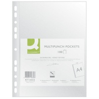 Koszulka na dok. PP Q-CONNECT 40 mikr. groszkowa A4/100szt. transp., Koszulki i obwoluty, Archiwizacja dokumentów