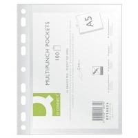 Koszulki na dokumenty Q-CONNECT, PP, A5, groszkowe, 50mikr., 100szt., Koszulki i obwoluty, Archiwizacja dokumentów