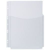 Catalogue Punched Pockets, Q-CONNECT, PVC, 3/4 A4, cristal, 180 micron, 5pcs