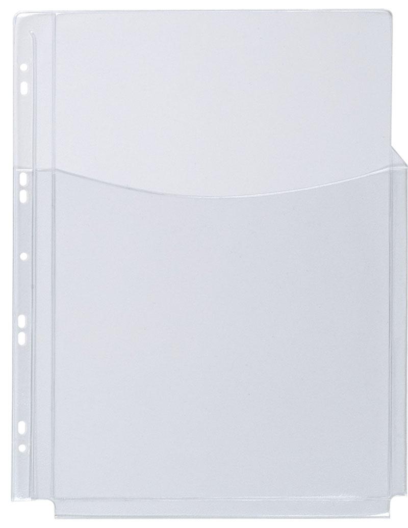 Koszulki na katalogi Q-CONNECT, PVC, 3/4A4, krystal, 180mikr., 5szt., Koszulki i obwoluty, Archiwizacja dokumentów