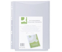 Koszulki na katalogi Q-CONNECT, PVC, A4, krystal, 150mikr., 5szt., Koszulki i obwoluty, Archiwizacja dokumentów