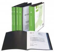 Display Book Q-CONNECT, with front cover pocket, PP, A4, 650 micron, 40 pockets, black