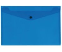 Envelope Wallet Q-CONNECT press stud, PP, A4, 172 micron, transparent blue