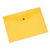 Teczka kopertowa Q-CONNECT zatrzask, PP, A4, 172mikr., transparentna żółta
