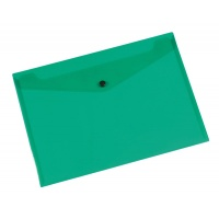 Teczka kopertowa Q-CONNECT zatrzask, PP, A4, 172mikr., transparentna zielona
