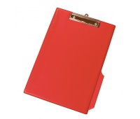 Clipboard Q-CONNECT Board, with a clip, PVC, A4, red