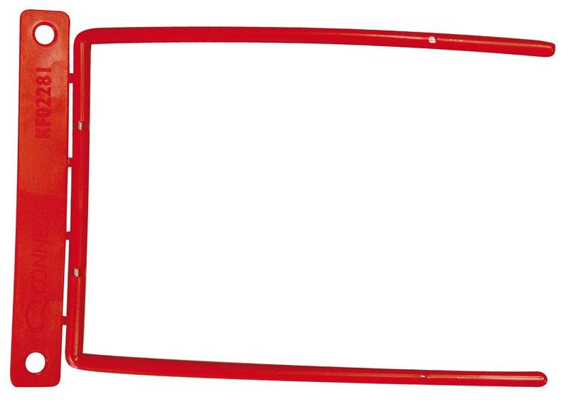 Klipsy archiwizacyjne Q-CONNECT D-Clip, grubość pliku max. 8cm, czerwony, Klipsy i spinki archiwizacyjne, Archiwizacja dokumentów
