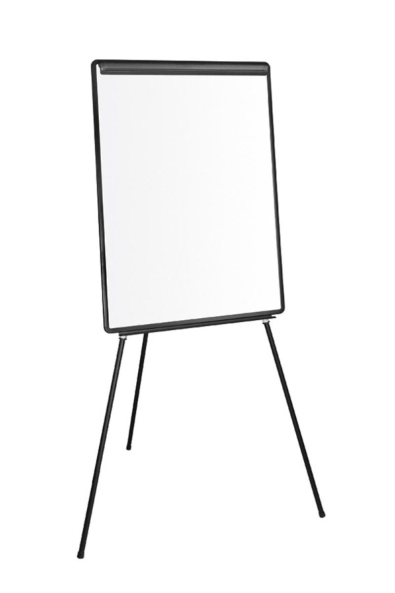 Flipchart na trójnogu Q-CONNECT, 70x100cm, tablica suchościeralna, Flipcharty, Prezentacja