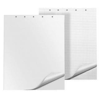 Blok do flipchartów Q-CONNECT, gładki, 65x100cm, 50 kart., biały, Bloki, magnesy, gąbki, spraye do tablic, Prezentacja