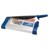 Office Guillotine for paper A4 cutting length 32cm blue-silver
