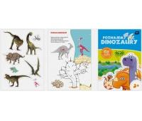 Kolorowanka Poznajemy Dinozaury A4 16 z naklejkami, Kolorowanki, Zabawki