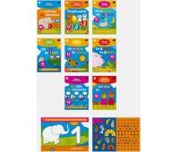 Kolorowanka Zabawy z cyferkami/kształtami/literami A4 16 z naklejkami mix, Kolorowanki, Zabawki