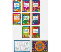 Kolorowanka Zagadki A4 16 z naklejkami mix, Kolorowanki, Zabawki