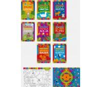 Kolorowanka Opowieści o zwierzętach A4 16 z naklejkami mix, Kolorowanki, Zabawki