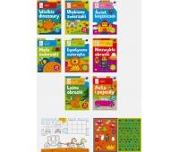 Kolorowanka Zabawy artystyczne A4 16 z naklejkami mix, Kolorowanki, Zabawki
