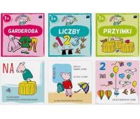 Książeczka sztywno stronicowa 17x17cm Lucynka poznaje Liczby, Garderoba, Przyimki, Książeczki, Zabawki