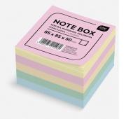 Kostka papierowa kolorowa 85x85x50 mm nieklejona, Kostki, Papier i etykiety