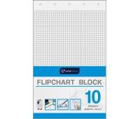 Blok do flipchartów 100x64 cm 10 kratka, Bloki, magnesy, gąbki, spraye do tablic, Prezentacja