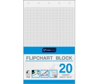 Blok do flipchartów 100x64 cm 20 kratka, Bloki, magnesy, gąbki, spraye do tablic, Prezentacja