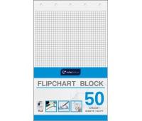 Blok do flipchartów 100x64 cm 50 kratka, Bloki, magnesy, gąbki, spraye do tablic, Prezentacja