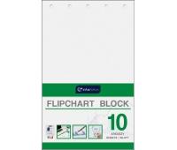 Blok do flipchartów 100x64 cm 10 gładki, Bloki, magnesy, gąbki, spraye do tablic, Prezentacja