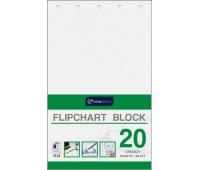 Blok do flipchartów 100x64 cm 20 gładki, Bloki, magnesy, gąbki, spraye do tablic, Prezentacja