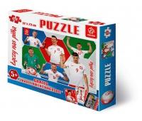 Puzzle 120 elementów PZPN wzór 6 zawodników, Puzzle, Zabawki