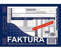 Faktura wzór pełny dla prowadzących sprzedaż w cenach netto, Druki, Papier i etykiety