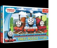 14231 24 Maxi - Wesołe lokomotywy / Thomas and Friends, Puzzle, Zabawki