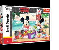 14236 24 Maxi - Piknik na plaży / Disney Standard Characters, Puzzle, Zabawki