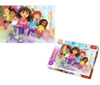 14242 24 Maxi - Gotowe, do startu, start! / Viacom Dora and Friends, Puzzle, Zabawki