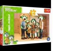 14254 24 Maxi - Portret rodzinny z Robobotem / Studio Trefl Rodzina Treflików, Puzzle, Zabawki