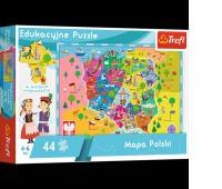 15501 44 Edukacyjne - Mapa Polski dla dzieci / Trefl, Puzzle, Zabawki