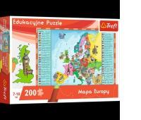 15503 200 Edukacyjne - Mapa Europy dla dzieci / Trefl, Puzzle, Zabawki