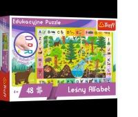 15520 48 Edukacyjne - Leśny Alfabet / Trefl, Puzzle, Zabawki