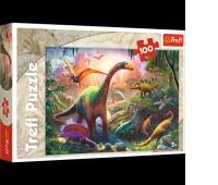 16277 100 - Świat dinozaurów / Trefl, Puzzle, Zabawki