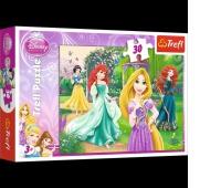 18172 30 - Roszpunka, Merida, Arielka i Śnieżka / Disney Princess, Puzzle, Zabawki