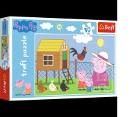 18195 30 - Wizyta w kurniku / Peppa Pig, Puzzle, Zabawki