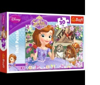 18196 30 - Pachnące róże / Disney Sofia the First, Puzzle, Zabawki