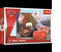 18206 30 - Złomek i Zygzak w Europie / Disney Cars 2, Puzzle, Zabawki