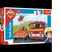 18213 30 - Strażak Sam rusza do akcji / Prism A&D Fireman Sam, Puzzle, Zabawki